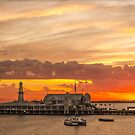 Goldern Geelong Sunrise by bekyimage