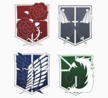 Attack on Titan Emblems by tobiejade