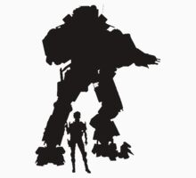 Black Robot Titan - Sticker & Clothing -  Vector Video Game by CooliPhones