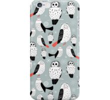texture of white owls iPhone Case/Skin