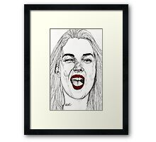 Kate with the Red Lips Framed Print