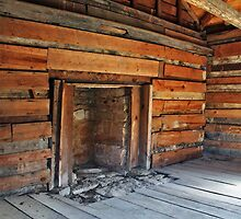 Log Cabin Hearth by debidabble