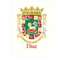 Diaz Shield of Puerto Rico Art Print