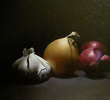 Still life with onions by Zoran Kudra