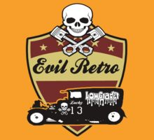 hot rod evil retro skull by lowgrader
