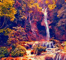 Laotian Waterfall by lalalu