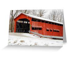 Dunbar Covered Bridge with Snow Greeting Card