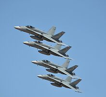 Hornet Formation Flypast, Point Cook Airshow, Australia 2014 by muz2142