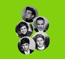 one direction circles green. by jilleeean