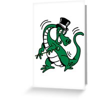 Dragon dancer entertainer cool comic Greeting Card