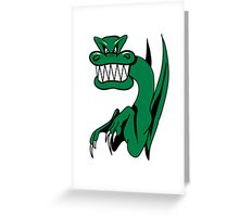 Dragon miee mood wicked funny cool comic Greeting Card