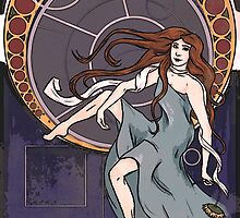 Amelia Pond, Art Nouveau  by VieWoodman
