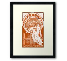 Amelia Pond Monochrome Framed Print