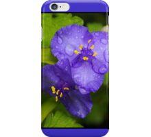 pretty blue pair iPhone Case/Skin
