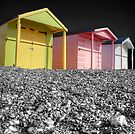 Beach Huts - Shoreham - West Sussex by Colin J Williams Photography