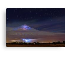 Stormy Startrails  Canvas Print
