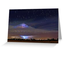 Stormy Startrails  Greeting Card