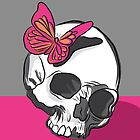 Skull & butterfly by aureliescour