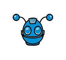 Robot funny cool toys fun antennas Photographic Print