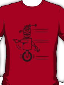 Funny cool fast funny robot comic T-Shirt