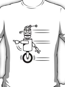Funny cool fast funny robot comic T-Shirt