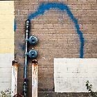 Blue Graffiti Spray by Michel Godts