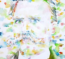NIETZSCHE - watercolor portrait.2 by lautir