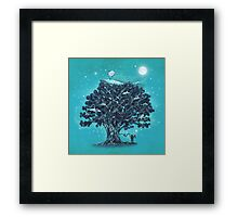 Deep Tree Diving  Framed Print