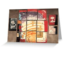 Puzzle painting Separated Couples Greeting Card
