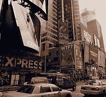 New York Times Square Sepia by silvianeto