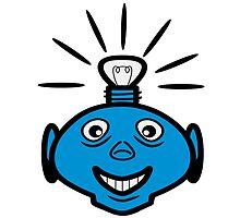 Robot head bulb cool funny funny by Motiv-Lady