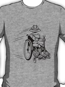 Robot cool tired funny funny wheelchair T-Shirt