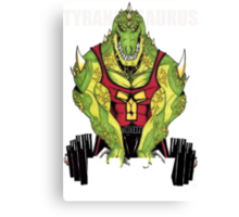 Tyrannosaurus Flex (With text) Canvas Print