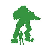 Green Robot Titan - iPhone Galaxy -  Vector Design Video Game by CooliPhones