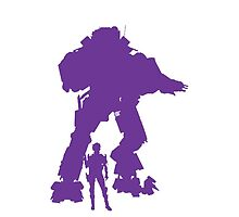 Purple Robot Titan Vector Design Video Game by CooliPhones
