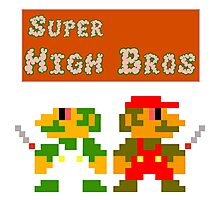 Super High Bros! Photographic Print