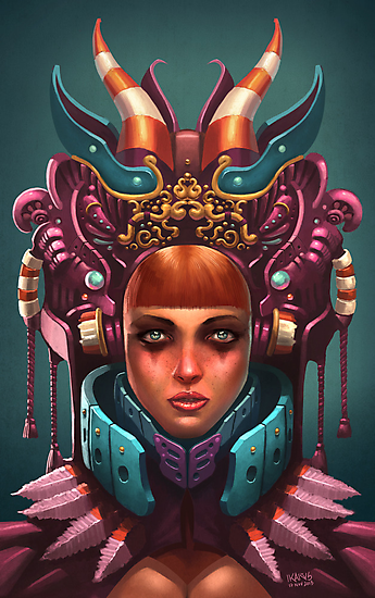 Rashah Queen Portrait by Enrique Figueroa