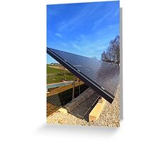 Solar panels in amazing perspective view   architectural photography Greeting Card