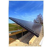 Solar panels in amazing perspective view | architectural photography Poster