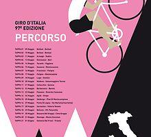 MY GIRO D ITALIA MINIMAL POSTER 2014-PERCOSO by Chungkong