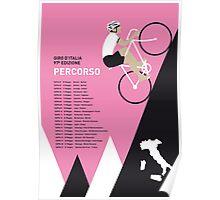 MY GIRO D ITALIA MINIMAL POSTER 2014-PERCOSO Poster