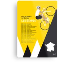 MY TOUR DE FRANCE MINIMAL POSTER 2014-ETAPES Metal Print