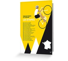 MY TOUR DE FRANCE MINIMAL POSTER 2014-ETAPES Greeting Card