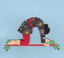 Mardjariasana - CAT yoga posture by Marikohandemade