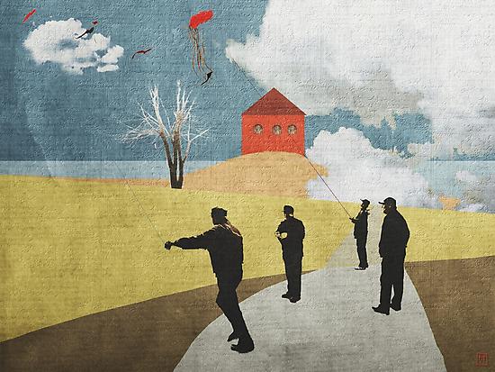 kites by Nikolay Semyonov