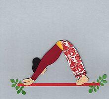 Adho Mukha Svanasana - DOWNWARD-FACING DOG yoga posture by Marikohandemade