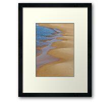 Shoreline Wavey Framed Print