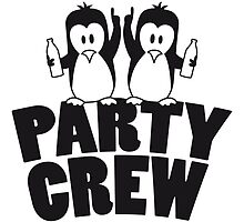 Drunk drinking party crew team 2 penguins by Style-O-Mat