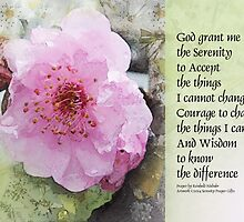 Serenity Prayer Plum Blossom by serenitygifts