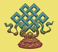 Tibetan Endless Knot, Lotus Flower, Buddhism Kids Clothes